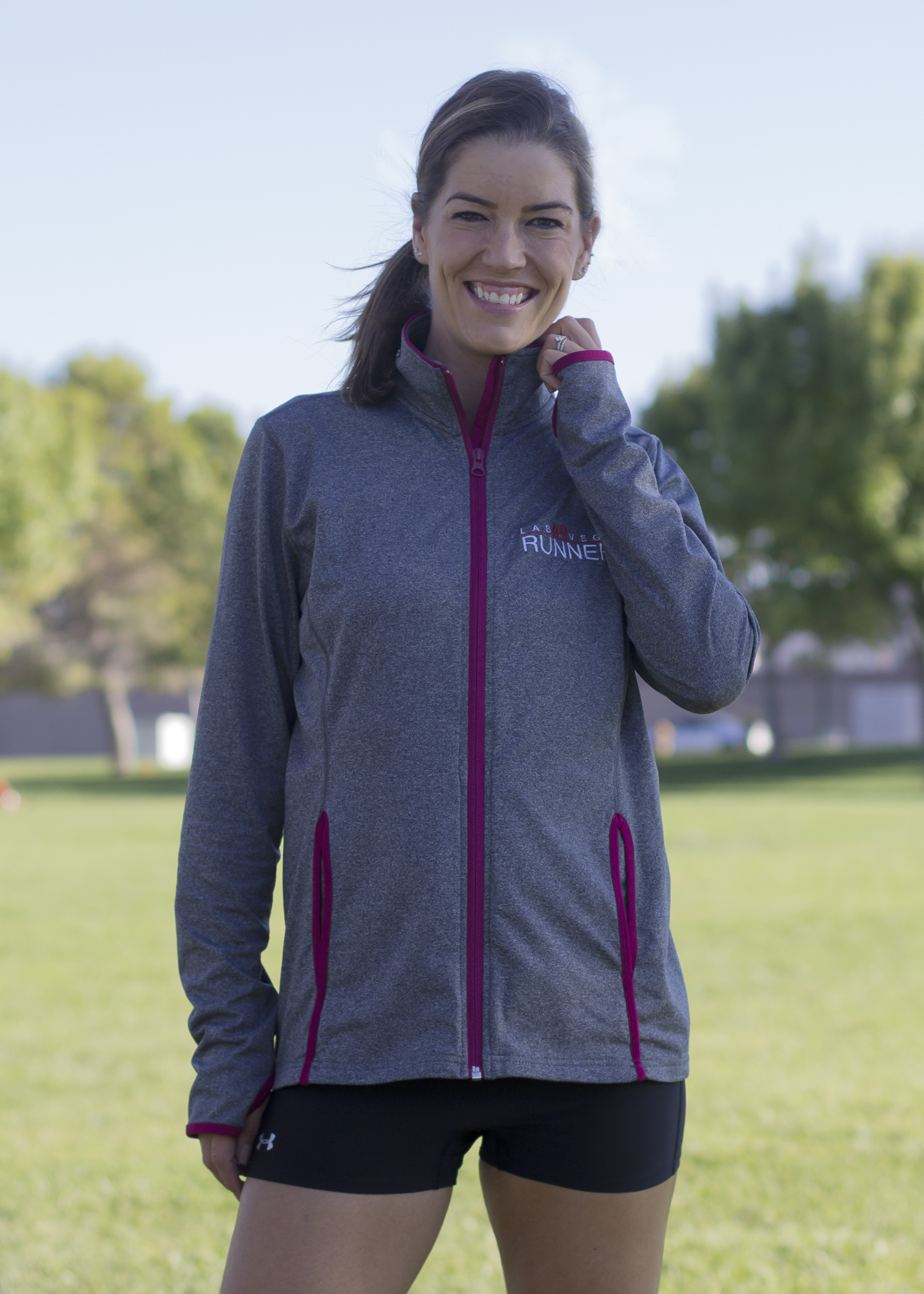 Sport Tek Ladies Sport Wick Stretch Contrast Full Zip Jacket Las Vegas Runners Look sharp in affordable high performance apparel. sport tek ladies sport wick stretch contrast full zip jacket